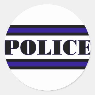 Police Family Classic Round Sticker