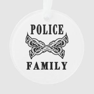 Police Family Tattoo Ornament