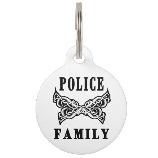 Police Family Tattoos Pet Name Tag