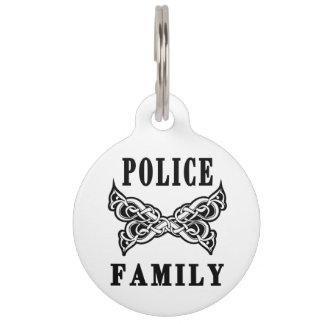 Police Family Tattoos Pet Nametags