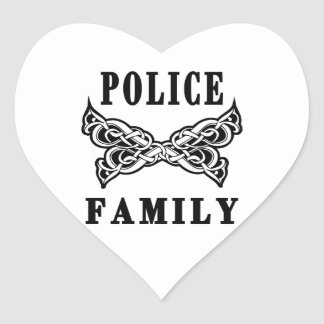 Police Family Tattoos Heart Stickers