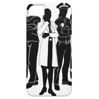 Police Fire Doctor Emergency Team Silhouettes iPhone 5 Case