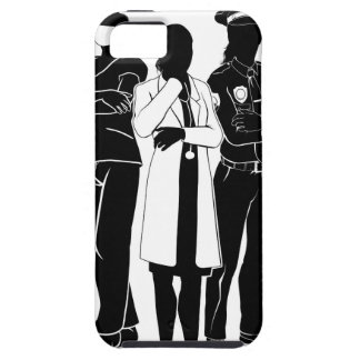 Police Fire Doctor Emergency Team Silhouettes iPhone 5 Covers