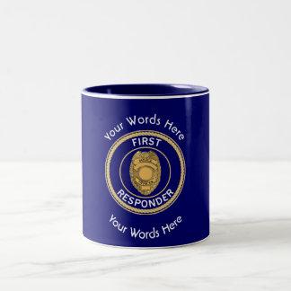 Police First Responder Custom Two-Tone Coffee Mug