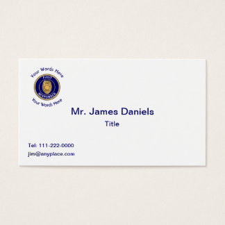 Police First Responder's Business Card