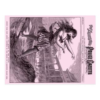 Police Gazette postcard Sandwich Island Girl