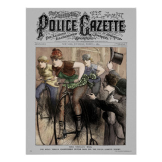 Police Gazette poster Bike Race