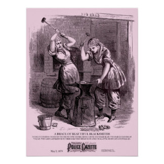 Police Gazette poster Blacksmiths