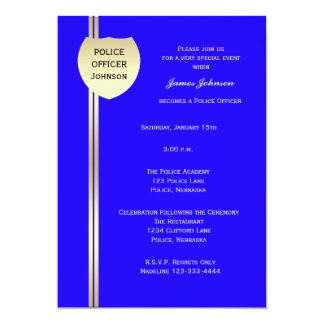 Police Graduation Invitations Police Badge