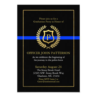 Police Graduation | Retirement Themed Monogram Card