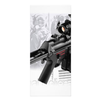 Police Gun Full Color Rack Card
