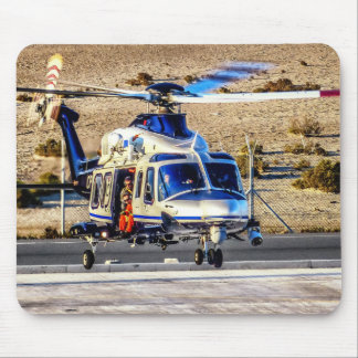 Police Helicopter Mouse Mat