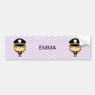 Police Highway Patrol or Traffic Controller Bumper Sticker