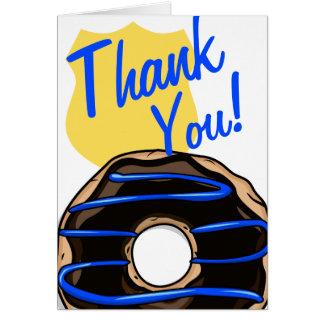 Police Humor Thin Blue Line Doughnut Card