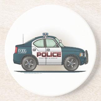 Police Interceptor Car Cop Car Coaster