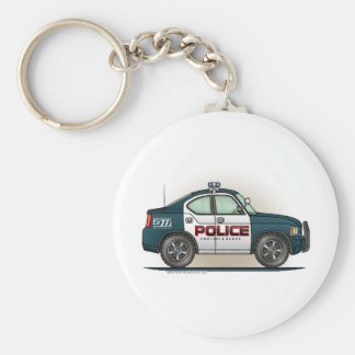 Police Interceptor Car Cop Car Keychain