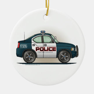 Police Interceptor Car Cop Car Ornament