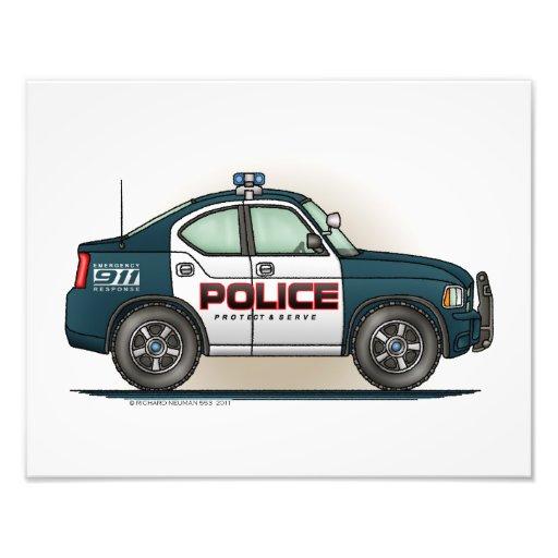 Police Interceptor Car Cop Car Art Photo