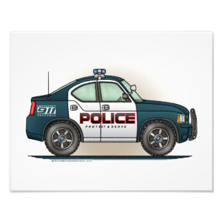 Police Interceptor Car Cop Car Photographic Print