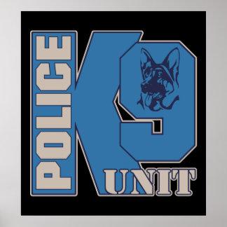 Police K9 Unit Dog Poster
