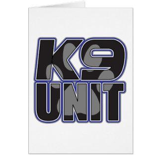 Police K9 Unit Paw Print Greeting Card