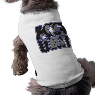 Police K9 Unit Paw Print Sleeveless Dog Shirt