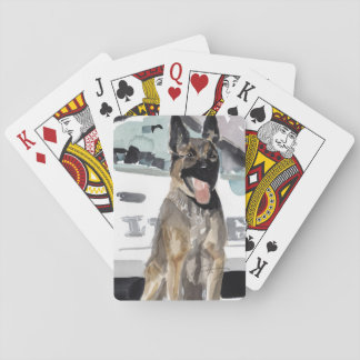Police K-9 playing cards