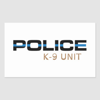 Police K-9 Unit Rectangular Sticker