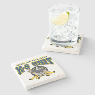 Police K-9 Unit Stone Beverage Coaster