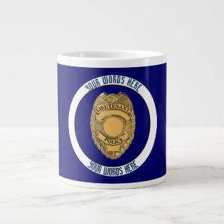 Police Lieutenant Badge Custom Large Coffee Mug
