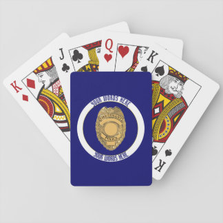 Police Lieutenant Badge Custom Playing Cards