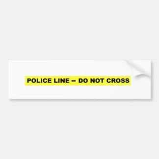 Police Line - Do Not Cross Bumper Sticker