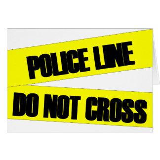 Police Line Do Not Cross Card