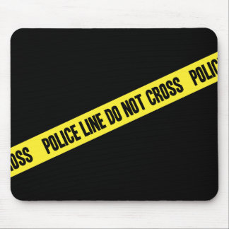 Police Line DO NOT CROSS Mouse Mat