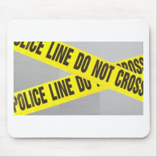 police line do not cross mouse pads
