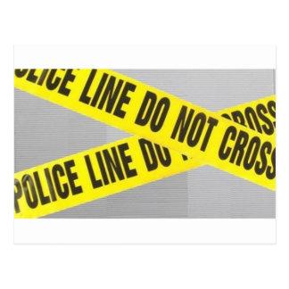police line do not cross postcard
