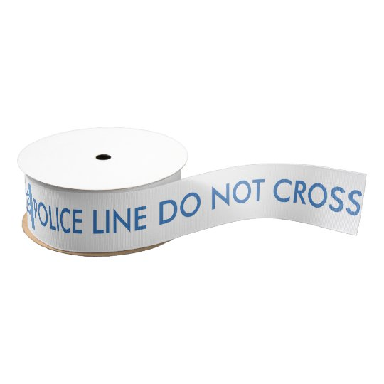 Police Line Do Not Cross Ribbon Grosgrain Ribbon