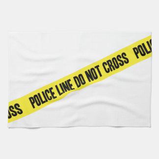 Police Line DO NOT CROSS Tea Towel
