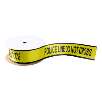 Police Line Tape Satin Ribbon