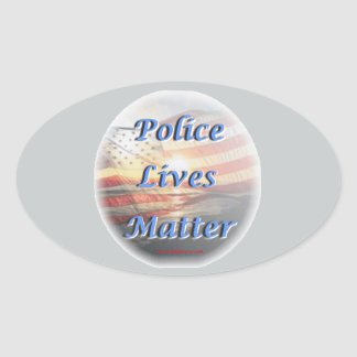 Police_Lives_Matter2 Oval Sticker