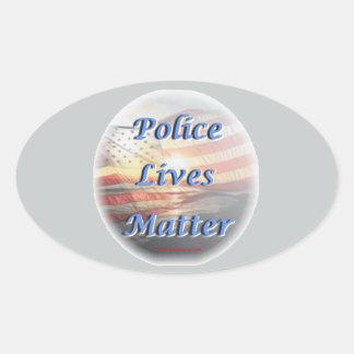 Police_Lives_Matter2 Oval Sticker