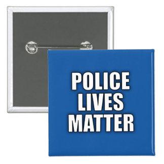 """""""POLICE LIVES MATTER"""" 15 CM SQUARE BADGE"""