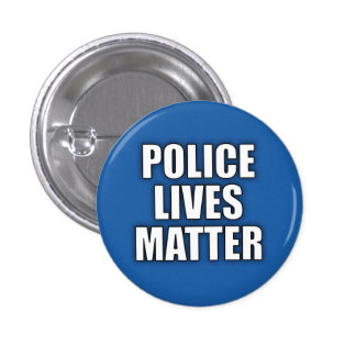 """POLICE LIVES MATTER"" 1.25-inch 3 Cm Round Badge"