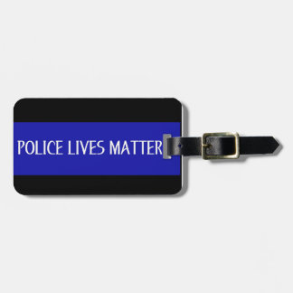 POLICE LIVES MATTER LUGGAGE TAGS