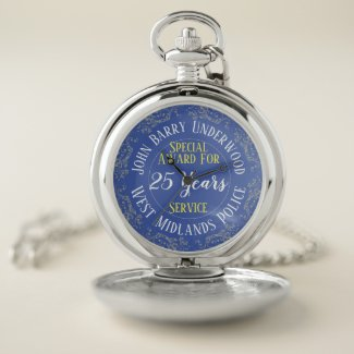 Police Long Service Award. Pocket Watch