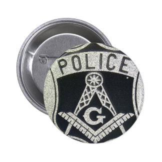 Police Masonic Button
