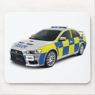 police mitsubishi lancer evo mouse mat