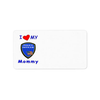 Police Mom Love Address Label