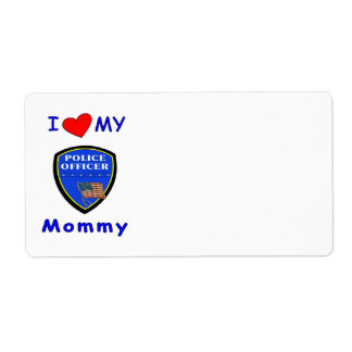 Police Mom Love Shipping Label