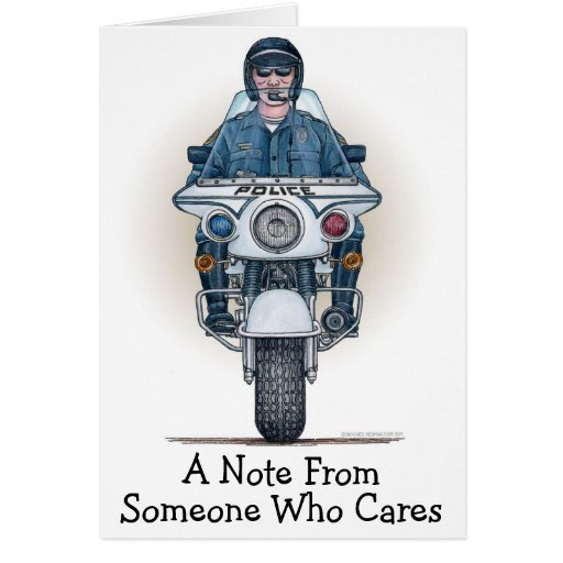 Police Motorcycle Note Card